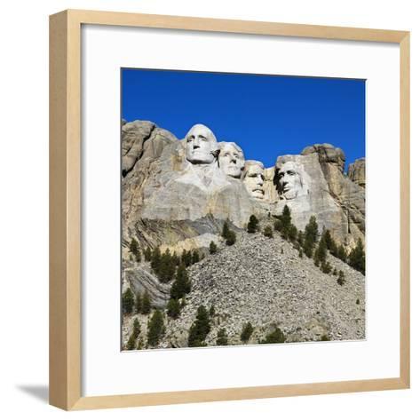 Mount Rushmore National Memorial-Ron Chapple-Framed Art Print