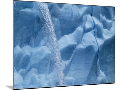 Waterfall on Glacier on Spitsbergen-Hans Strand-Mounted Photographic Print