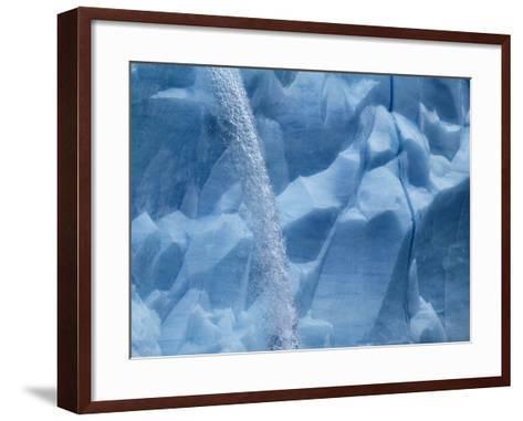 Waterfall on Glacier on Spitsbergen-Hans Strand-Framed Art Print