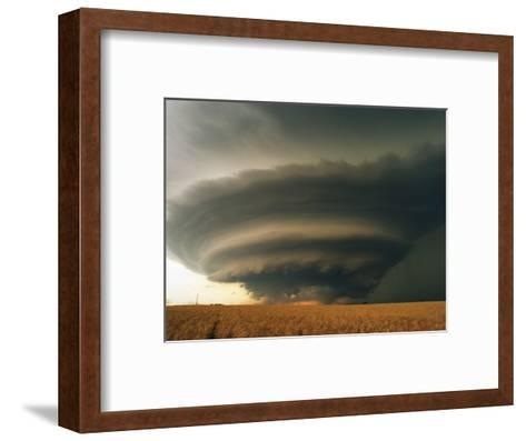Supercell and Wheat Field-Jim Reed-Framed Art Print