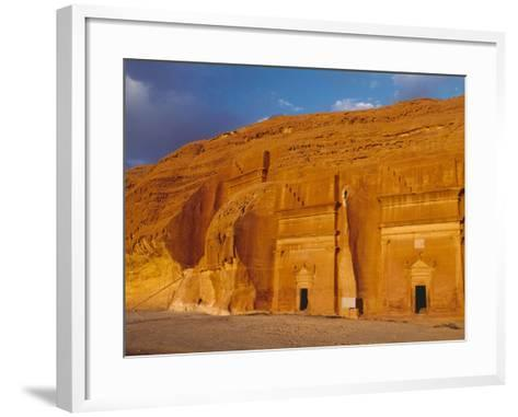 Tombs of Madain Saleh-Kazuyoshi Nomachi-Framed Art Print