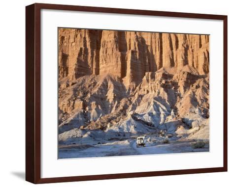 SUV Driving Through Valley of the Moon-Hubert Stadler-Framed Art Print
