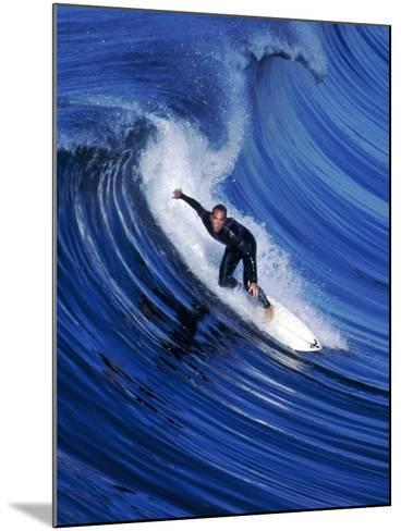 Surfer Riding a Wave-David Pu'u-Mounted Photographic Print