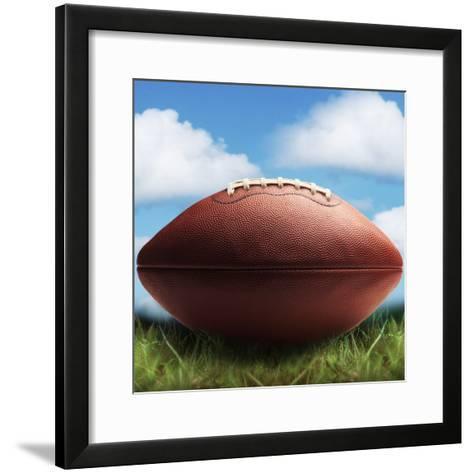 Football in Grass-James Noble-Framed Art Print