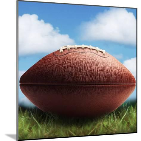 Football in Grass-James Noble-Mounted Photographic Print