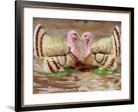 Turkey Saltcellar and Pepper Shaker Set-Stacy Morrison-Framed Art Print