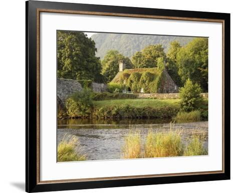 Vine-Covered Stone Cottage Near River Conwy-Richard Klune-Framed Art Print