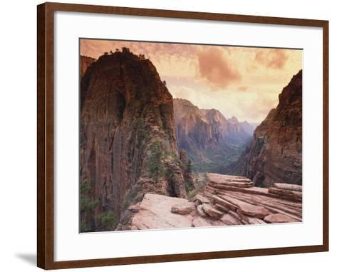 Angel's Landing--Framed Art Print