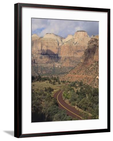 Curving Rural Road--Framed Art Print