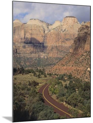 Curving Rural Road--Mounted Photographic Print