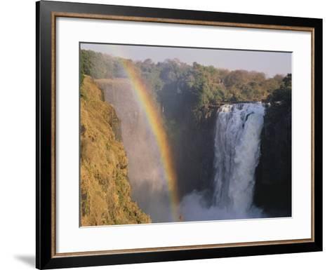Rainbow Over Victoria Falls--Framed Art Print