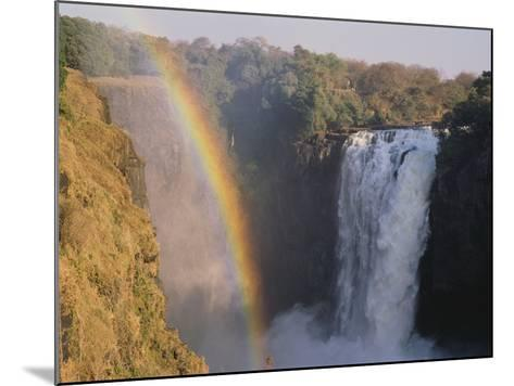 Rainbow Over Victoria Falls--Mounted Photographic Print