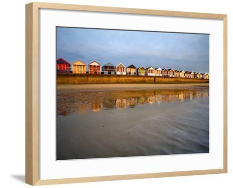 Southwold Beach Huts-Marc Bedingfield-Framed Art Print