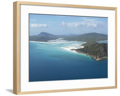 Aerial View of a Peninsula Jutting Out into the Ocean--Framed Art Print