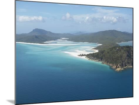 Aerial View of a Peninsula Jutting Out into the Ocean--Mounted Photographic Print