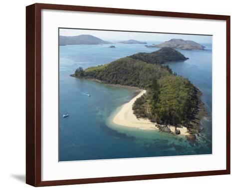 Aerial View of Offshore Islands, Queensland, Australia--Framed Art Print