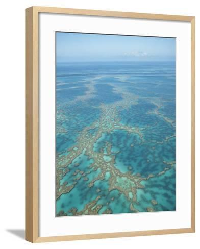 Aerial View of the Great Barrier Reef, Queensland, Australia--Framed Art Print
