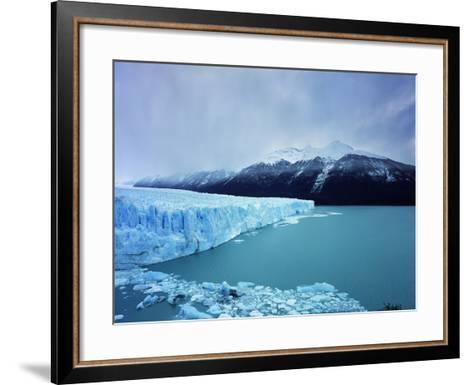 Misty Mountains Behind Glacier-Jonathan Andrew-Framed Art Print