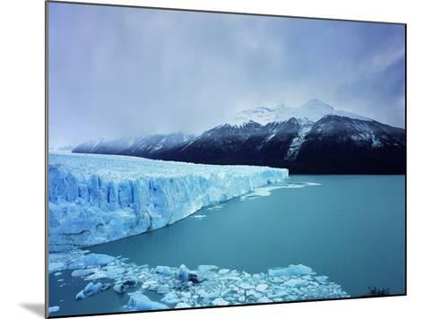 Misty Mountains Behind Glacier-Jonathan Andrew-Mounted Photographic Print