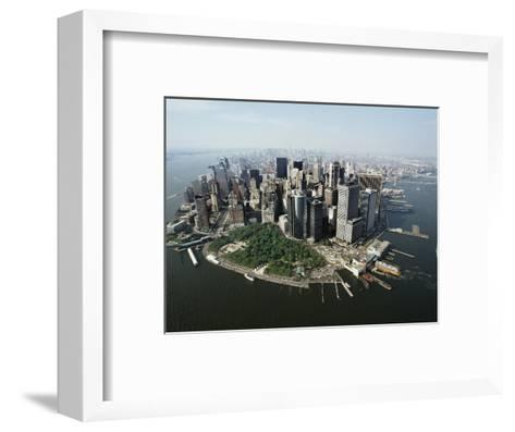 Manhattan's Financial District-David Jay Zimmerman-Framed Art Print