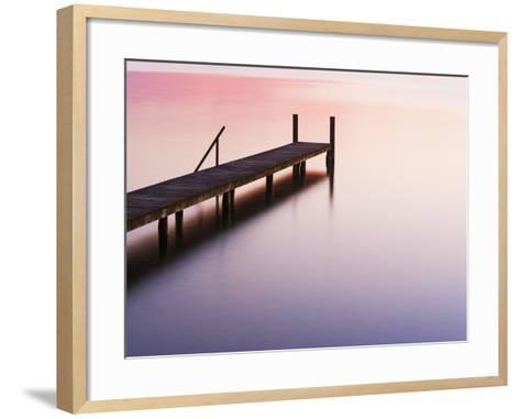 Footbridge at Lake Starnberg-Frank Krahmer-Framed Art Print