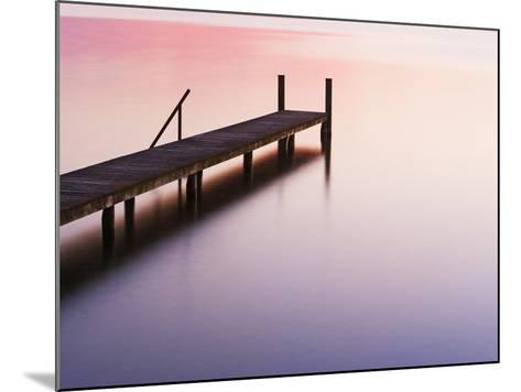 Footbridge at Lake Starnberg-Frank Krahmer-Mounted Photographic Print