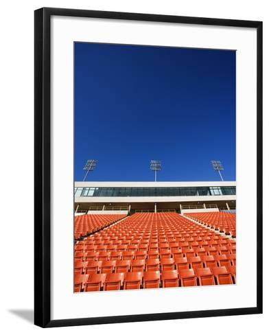 Empty Football Stadium Seats-Robert Michael-Framed Art Print