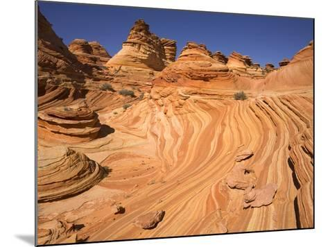 Red Sandstone Buttes and Layers in Desert-John Eastcott & Yva Momatiuk-Mounted Photographic Print