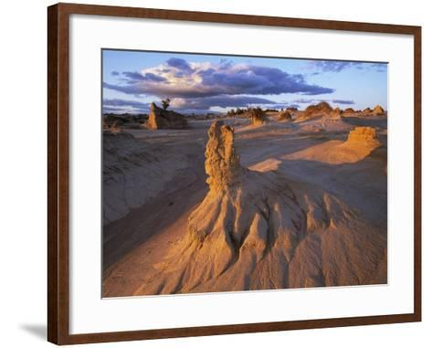 Rock Formations in Mungo National Park-Theo Allofs-Framed Art Print