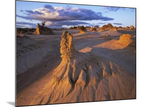 Rock Formations in Mungo National Park-Theo Allofs-Mounted Photographic Print