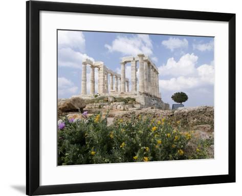Temple of Poseidon-Richard Nowitz-Framed Art Print