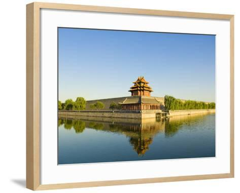 Corner Tower and Moat-Xiaoyang Liu-Framed Art Print