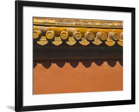 Tiles on Roof of Forbidden City-Xiaoyang Liu-Framed Art Print