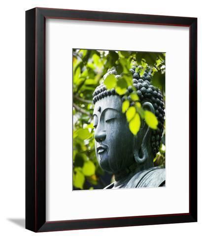 Buddha in Senso-ji Temple Garden-Bruno Ehrs-Framed Art Print