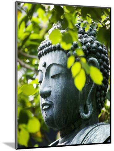 Buddha in Senso-ji Temple Garden-Bruno Ehrs-Mounted Photographic Print