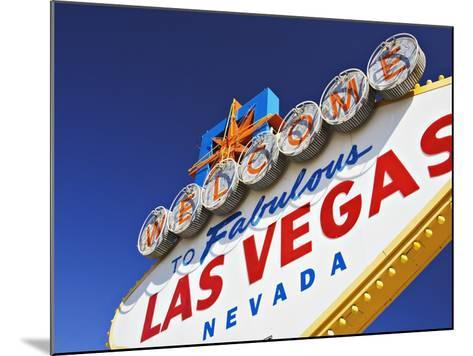 Welcome to Las Vegas Sign-William Manning-Mounted Photographic Print