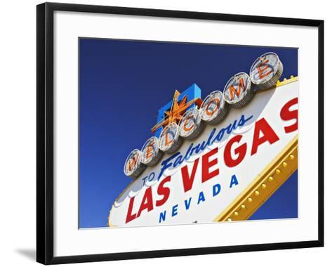 Welcome to Las Vegas Sign-William Manning-Framed Art Print