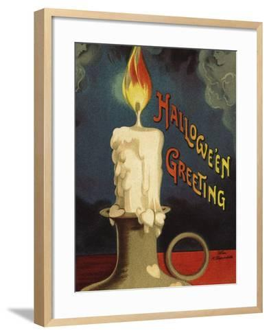 Hallowe'en Greeting-Ellen H^ Clapsaddle-Framed Art Print