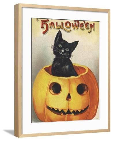 A Merry Halloween-Ellen H^ Clapsaddle-Framed Art Print