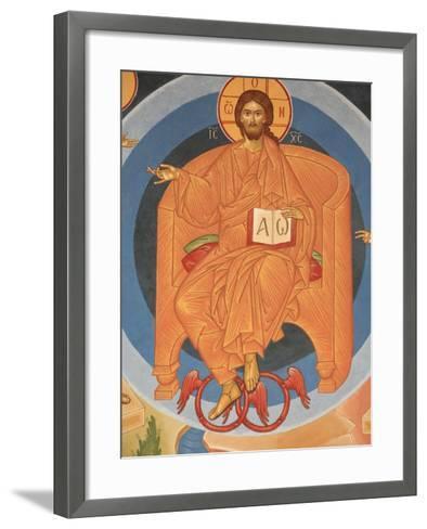 Detail of Last Judgment Fresco at Monastery of Saint-Antoine-le-Grand-Pascal Deloche-Framed Art Print