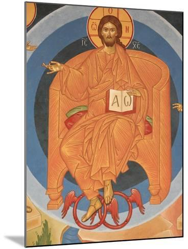 Detail of Last Judgment Fresco at Monastery of Saint-Antoine-le-Grand-Pascal Deloche-Mounted Photographic Print