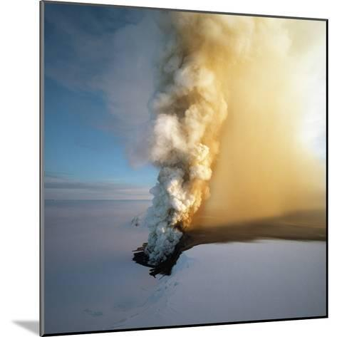 Eruption of Grimsfjall Volcano--Mounted Photographic Print