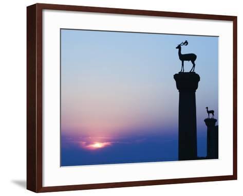 Stag Column-Walter Bibikow-Framed Art Print