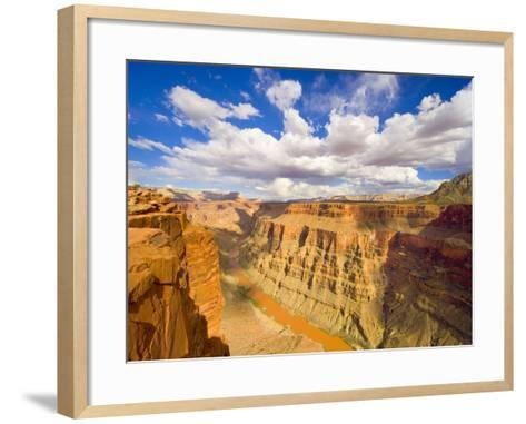 Grand Canyon and Colorado River-John Eastcott & Yva Momatiuk-Framed Art Print