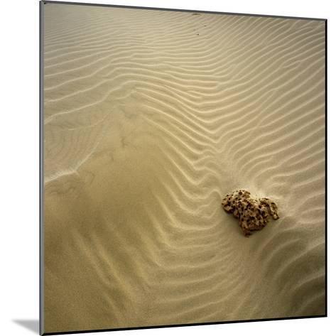 Rock Eroding in Desert Sand-Micha Pawlitzki-Mounted Photographic Print