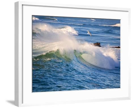 Heavy Surf off Cape Kiwanda on Oregon Coast-Craig Tuttle-Framed Art Print