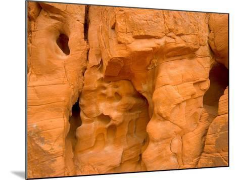 Eroded Sandstone Cliff With Holes-John Eastcott & Yva Momatiuk-Mounted Photographic Print