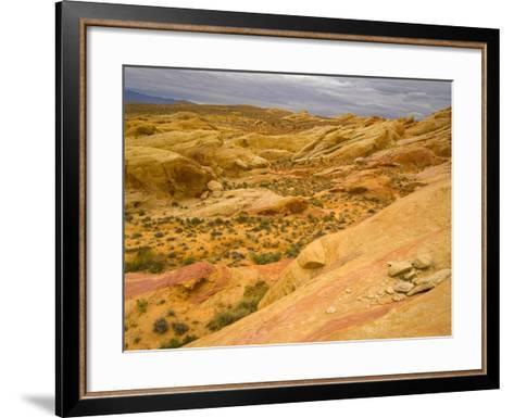 Sandstone Formations in Valley of Fire-John Eastcott & Yva Momatiuk-Framed Art Print