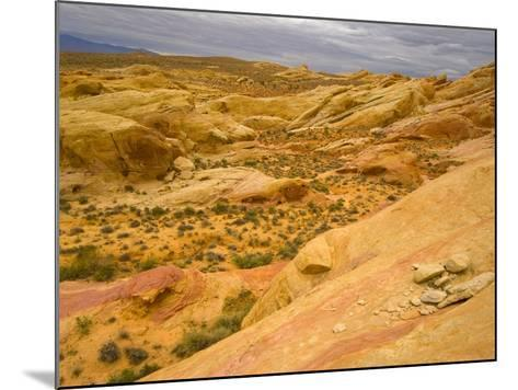 Sandstone Formations in Valley of Fire-John Eastcott & Yva Momatiuk-Mounted Photographic Print