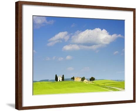 Chapel and Farmhouse on Hill-Frank Lukasseck-Framed Art Print